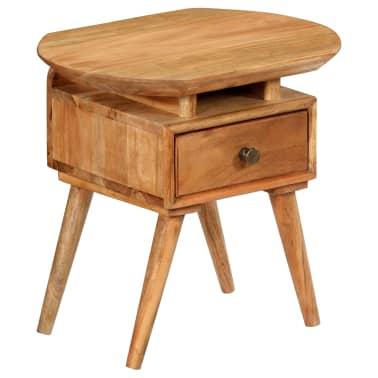 vidaXL Naktinis staliukas, 45x35x45cm, akacijos medienos masyvas[15/17]