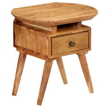 vidaXL Naktinis staliukas, 45x35x45cm, akacijos medienos masyvas[16/17]