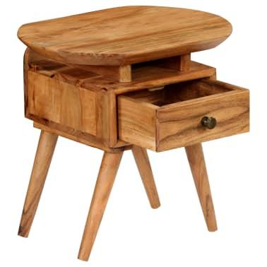 vidaXL Naktinis staliukas, 45x35x45cm, akacijos medienos masyvas[3/17]