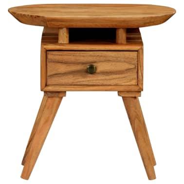 vidaXL Naktinis staliukas, 45x35x45cm, akacijos medienos masyvas[5/17]