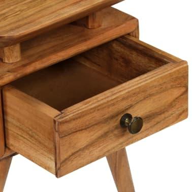 vidaXL Naktinis staliukas, 45x35x45cm, akacijos medienos masyvas[9/17]