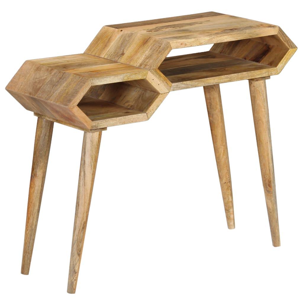 vidaXL Masă consolă, lemn masiv de mango, 90 x 35 x 76 cm poza vidaxl.ro