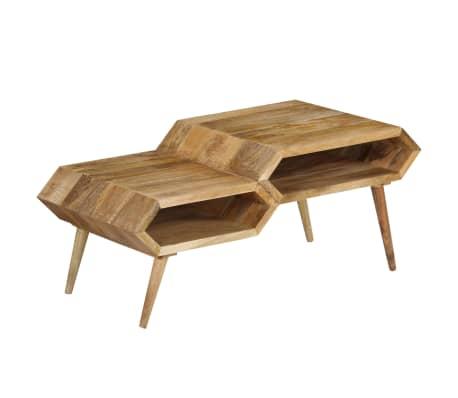 vidaXL Kavos staliukas, mango medienos masyvas, 104x50x45cm