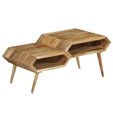 vidaXL Kavos staliukas, mango medienos masyvas, 104x50x45cm[1/16]