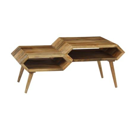 vidaXL Kavos staliukas, mango medienos masyvas, 104x50x45cm[2/16]