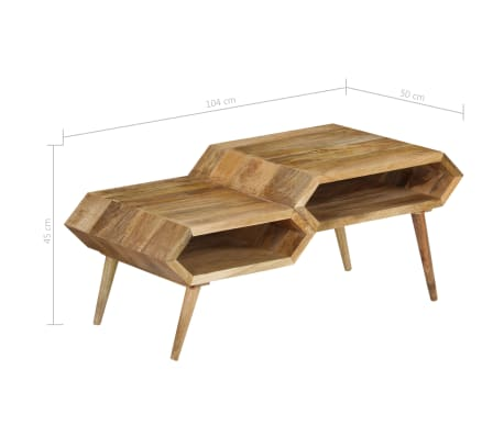 vidaXL Kavos staliukas, mango medienos masyvas, 104x50x45cm[12/16]