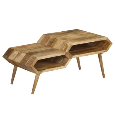 vidaXL Kavos staliukas, mango medienos masyvas, 104x50x45cm[13/16]