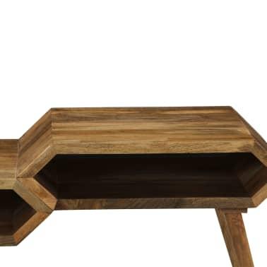 vidaXL Kavos staliukas, mango medienos masyvas, 104x50x45cm[8/16]