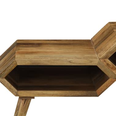 vidaXL Kavos staliukas, mango medienos masyvas, 104x50x45cm[9/16]