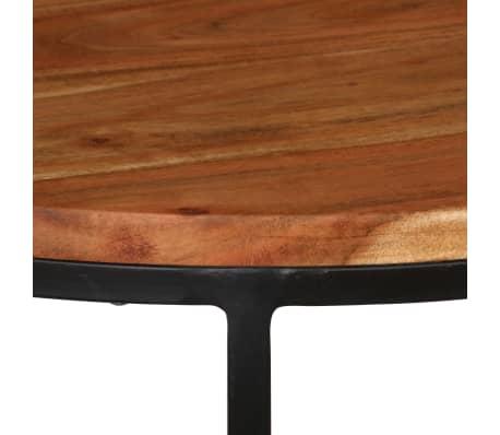 vidaXL Kavos staliukų kompl., 3d., akac. mas., rausv. dalberg. apd.[11/16]