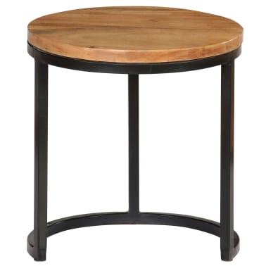 vidaXL Kavos staliukų kompl., 3d., akac. mas., rausv. dalberg. apd.[4/16]