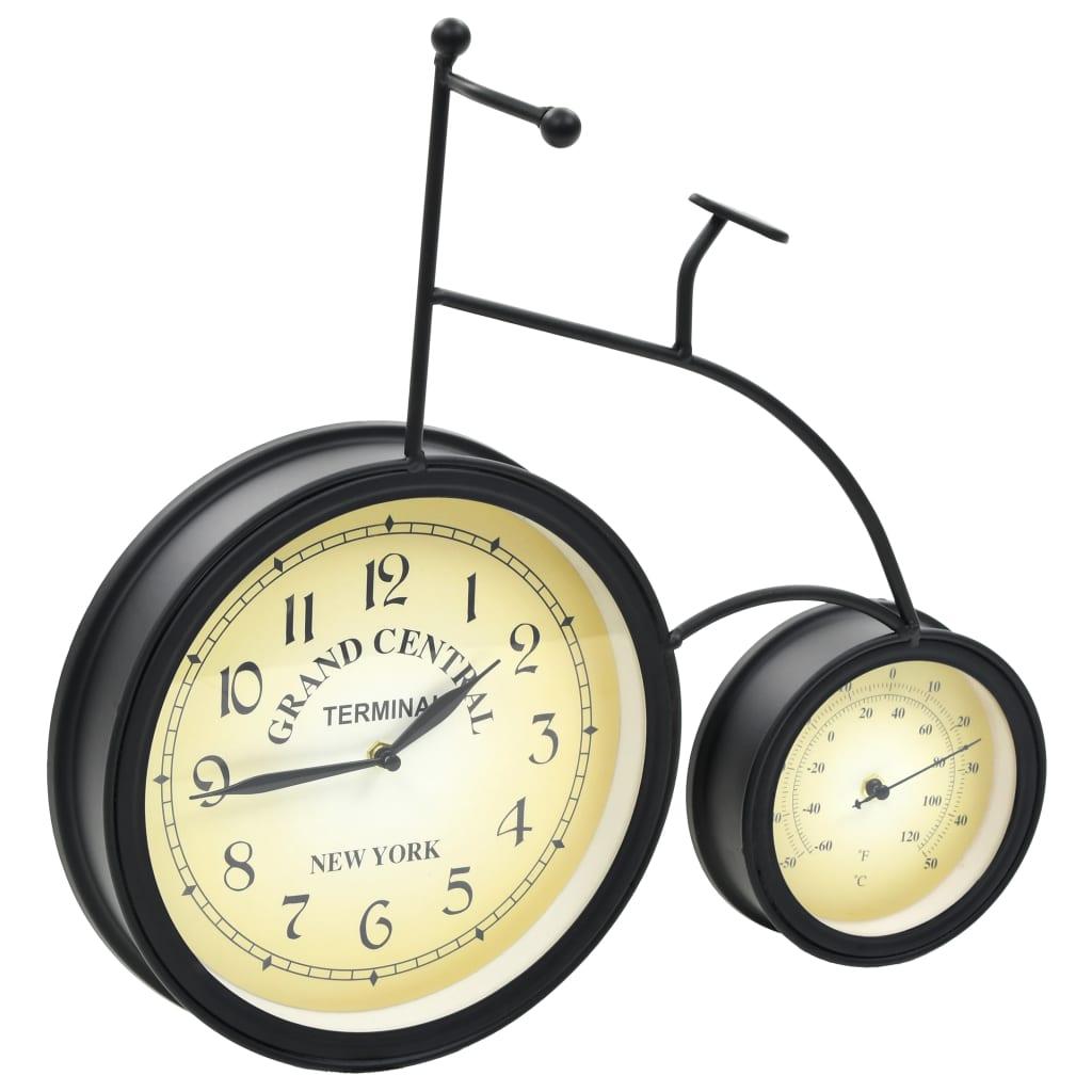 vidaXL Tuinklok met thermometer fiets vintage stijl