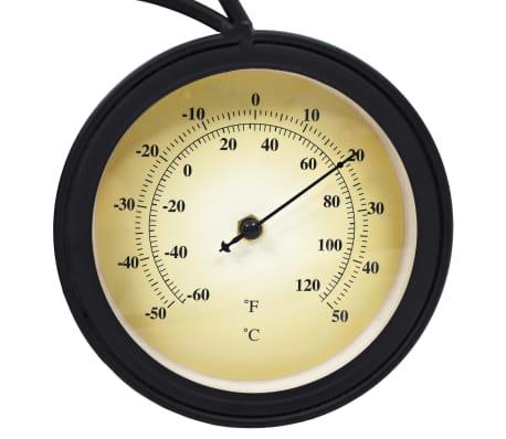vidaxl gartenuhr wanduhr mit thermometer fahrrad vintage g nstig kaufen. Black Bedroom Furniture Sets. Home Design Ideas