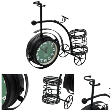 vidaXL Double-Sided Clock Tricycle Vintage[1/11]