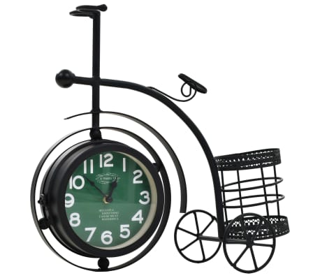 vidaXL Double-Sided Clock Tricycle Vintage[2/11]