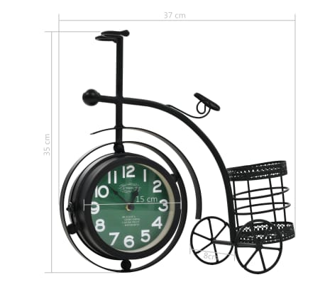 vidaXL Double-Sided Clock Tricycle Vintage[11/11]