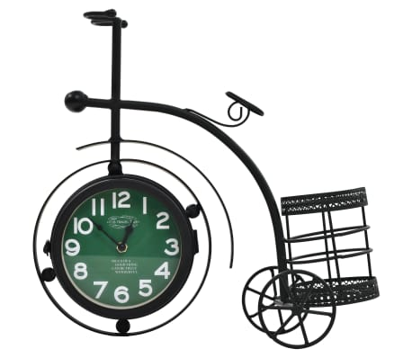 vidaXL Double-Sided Clock Tricycle Vintage[3/11]