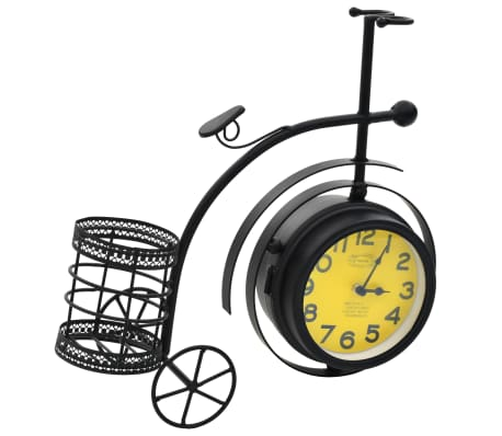 vidaXL Double-Sided Clock Tricycle Vintage[4/11]