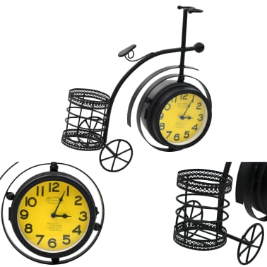 vidaXL Double-Sided Clock Tricycle Vintage[5/11]