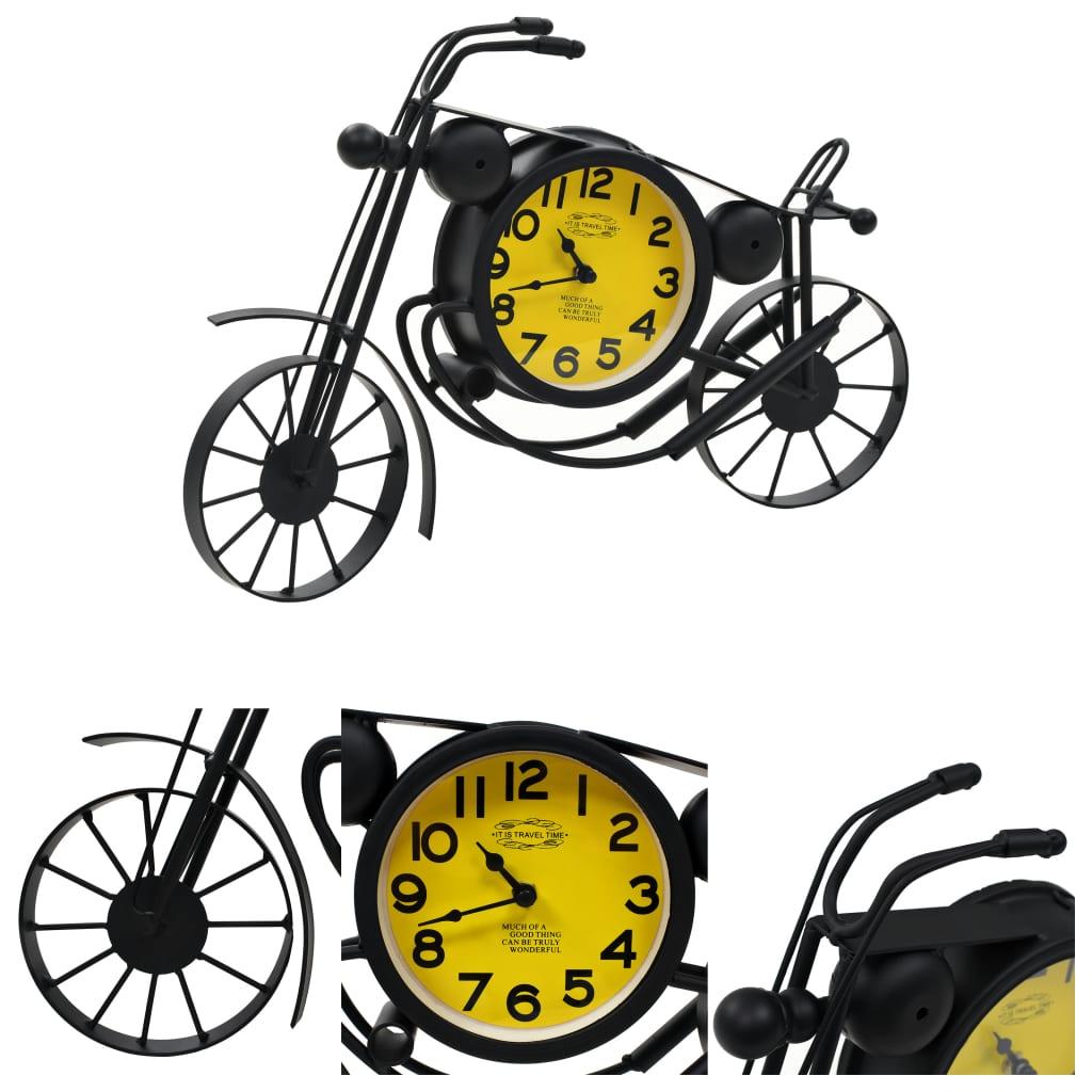 vidaXL Zahradní nástěnné hodiny s motivem motocyklu vintage