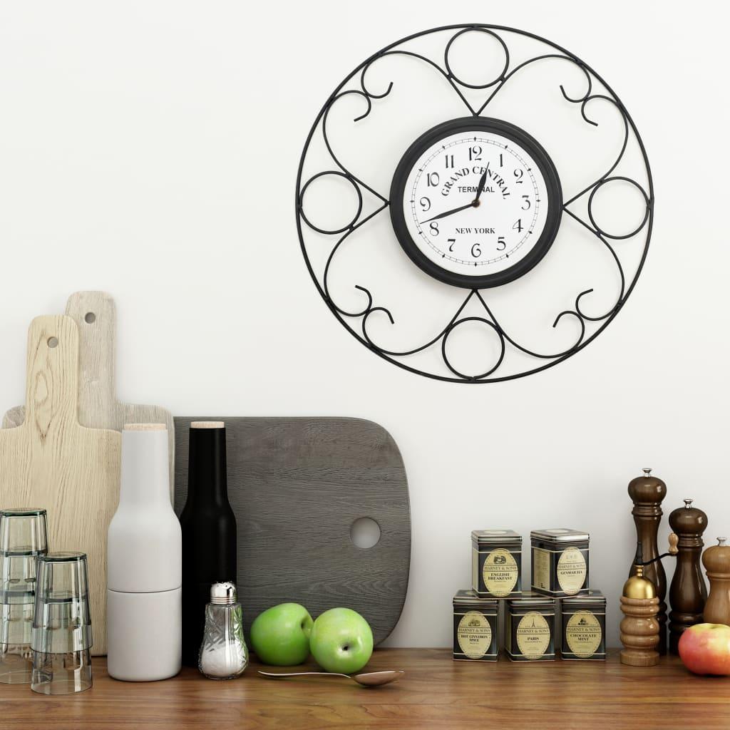 Zahradní nástěnné hodiny vintage 45 cm