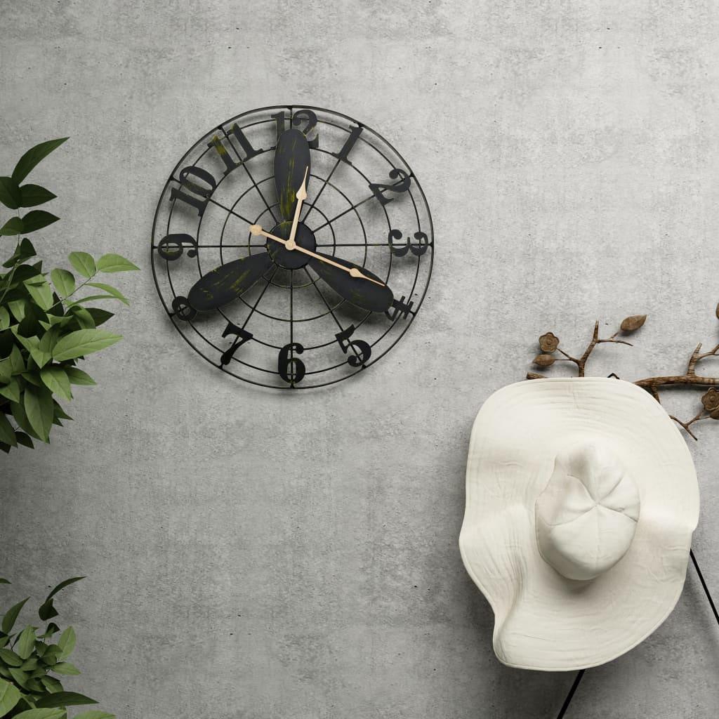 Zahradní nástěnné hodiny vintage 46 cm