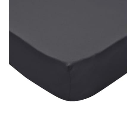 vidaXL faconsyede lagener til vandsenge 2 stk. 2 x 2,2 m bomuldsjersey antracitgrå[4/4]