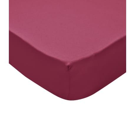 vidaXL Drap-housse pour lit à eau 2 pcs 1,8x2 m Jersey coton Bordeaux[4/4]