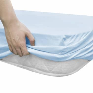 vidaXL Drap-housse pour berceaux 4 pcs Jersey de coton 40x80 cm Bleu[3/4]