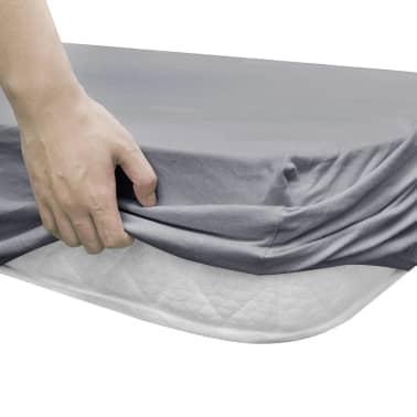 vidaXL Drap-housse pour berceaux 4 pcs Jersey de coton 40 x 80 cm Gris[3/4]