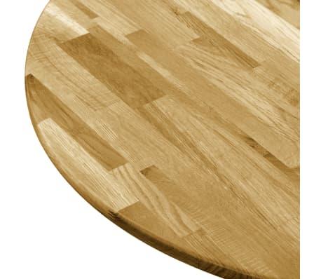 vidaXL Okrągły blat do stolika z litego drewna dębowego, 23 mm, 400 mm[4/5]