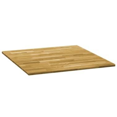 vidaXL Površina za mizo trden hrastov les kvadratna 23 mm 70x70 cm[2/5]