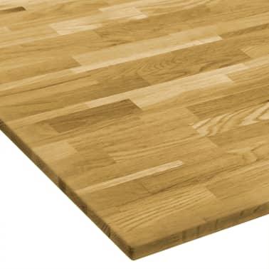 vidaXL Površina za mizo trden hrastov les kvadratna 23 mm 70x70 cm[3/5]