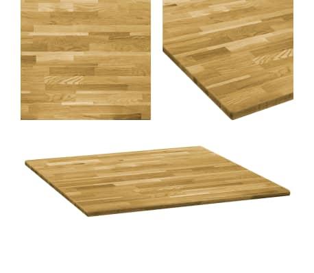 vidaXL Dessus de table Bois de chêne massif Carré 23 mm 80x80 cm