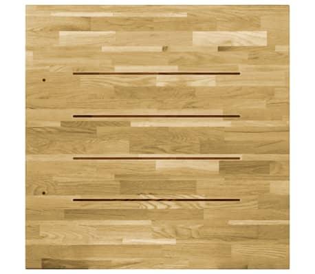 vidaXL Površina za mizo trden hrastov les kvadratna 23 mm 80x80 cm[4/5]