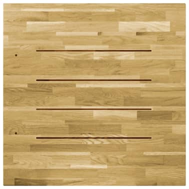 vidaXL Stalviršis, ąžuolo mediena, kvadratinis, 23mm, 80x80cm[4/5]