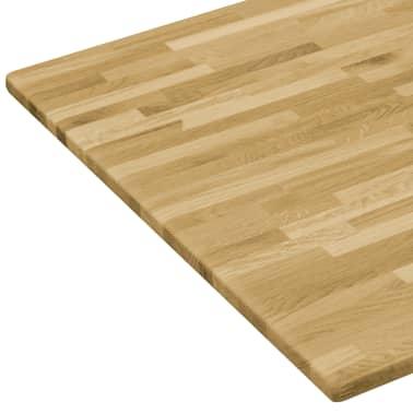vidaXL Površina za mizo trden hrastov les pravokotna 23 mm 100x60 cm[4/5]