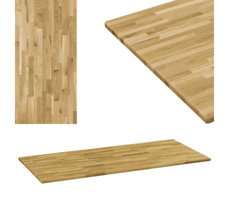 Vidaxl Tischplatte Eichenholz Massiv Rechteckig 23 Mm 120 X 60 Cm