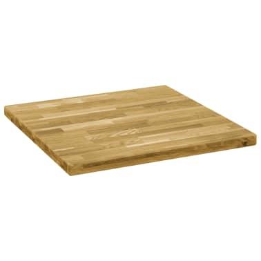 vidaXL Površina za mizo trden hrastov les kvadratna 44 mm 80x80 cm[2/5]