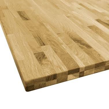 vidaXL Površina za mizo trden hrastov les kvadratna 44 mm 80x80 cm[3/5]