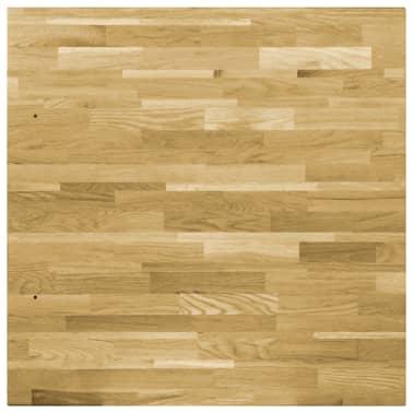 vidaXL Površina za mizo trden hrastov les kvadratna 44 mm 80x80 cm[4/5]