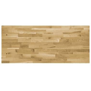 vidaXL Površina za mizo trden hrastov les pravokotna 44 mm 100x60 cm[3/5]