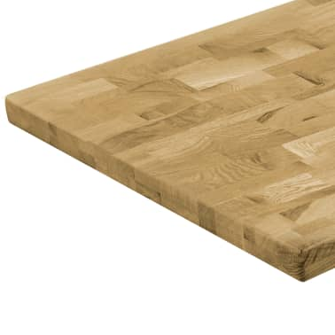vidaXL Površina za mizo trden hrastov les pravokotna 44 mm 100x60 cm[4/5]