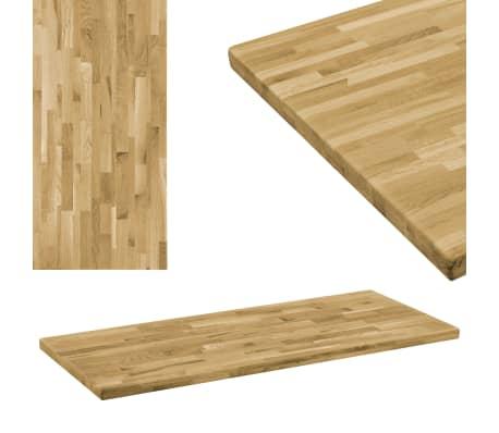 vidaXL Površina za mizo trden hrastov les pravokotna 44 mm 120x60 cm[1/5]