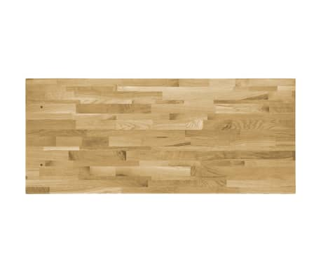 vidaXL Površina za mizo trden hrastov les pravokotna 44 mm 120x60 cm[3/5]