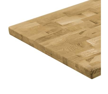 vidaXL Dessus de table Bois de chêne Rectangulaire 44 mm 120x60 cm[4/5]