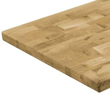 vidaXL Površina za mizo trden hrastov les pravokotna 44 mm 120x60 cm[4/5]
