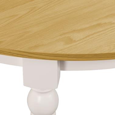 vidaXL Valgomojo stalas, apvalus, 120x75cm, ąžuolo medienos masyvas[4/6]