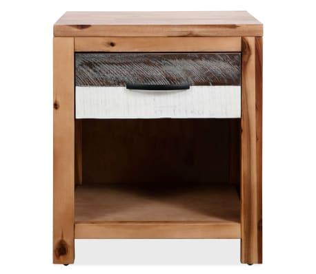 vidaXL Naktinis staliukas, masyvi akacijos mediena, 40x30x48cm[2/7]