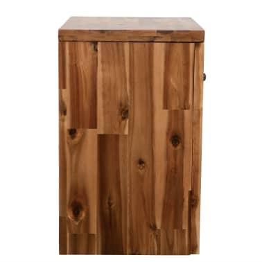 vidaXL Naktinis staliukas, masyvi akacijos mediena, 40x30x48cm[3/7]